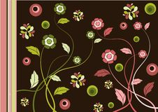 Retro floral background Royalty Free Stock Photos