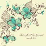 Retro floral background. Cute floral background with space for text Stock Images