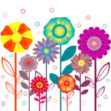Retro floral background Stock Photos