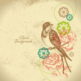 Retro floral background Stock Photography