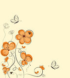Retro floral background stock illustration