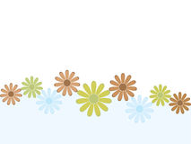Retro floral background. With copy space Stock Image