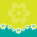 Retro Floral Background Stock Image