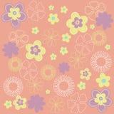 Retro floral background. Vector illustration of Retro floral background Stock Images