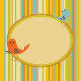 Retro floral background with birds Stock Image