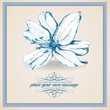 Retro floral background. Elegant stylish abstract floral card Stock Photos