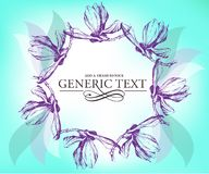 Retro floral background. Elegant stylish abstract floral card Royalty Free Stock Photo