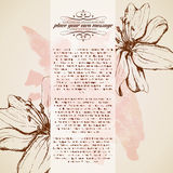 Retro floral background. Elegant stylish abstract floral card Stock Image