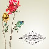 Retro floral background Royalty Free Stock Photography