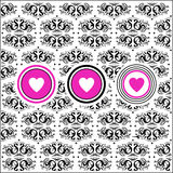 Retro floral background with hearts Royalty Free Stock Image