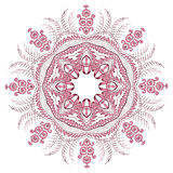 Retro floral background. Indian Designs Square Geometric Curves Stock Photography