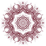 Retro floral background. Indian Designs Square Geometric Curves Royalty Free Stock Image