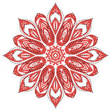 Retro floral background. Indian Designs Square Geometric Curves Stock Photo