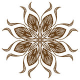 Retro floral background. Indian Designs Square Geometric Curves Royalty Free Stock Photography