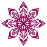 Retro floral background. Indian Designs Square Geometric Curves Royalty Free Stock Photos