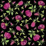 Retro floral background. Rose. Seamless background from a flowers ornament, fashionable modern wallpaper or textile Stock Photos