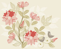 Retro floral background in vector Royalty Free Stock Photography