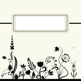 Retro floral banner. Illustration of retro floral banner for your design. EPS and JPEG Royalty Free Stock Images