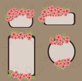 Retro floral banners. Set of retro stylized floral banners vector illustration