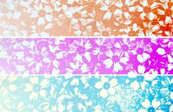 Retro floral banners Royalty Free Stock Images