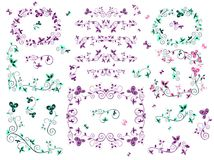 Retro floral borders. Collection of retro floral borders Stock Image