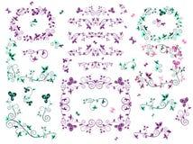 Retro floral borders Stock Image