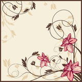 Retro floral card Stock Images