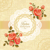 Retro floral card Stock Photos