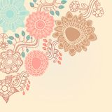 Retro floral corner Stock Images