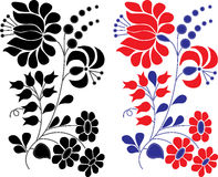 Retro floral decor element Stock Photography