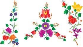 Retro floral decor elements Royalty Free Stock Image