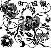 Retro floral do projeto Imagem de Stock Royalty Free