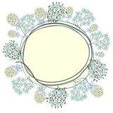 Retro floral frame Stock Image