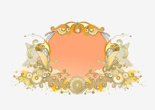 Retro floral frame Royalty Free Stock Image
