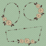 Retro floral frames Stock Photography