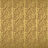 Retro Floral Golden Pattern. Illustration Stock Photo