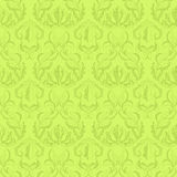 Retro floral green pattern. Seamless green pattern with antique leafs Royalty Free Stock Images