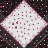 Retro floral, hearts and dots Stock Image