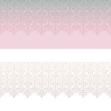 Retro floral lacy seamless border  set Stock Photography