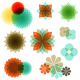 Retro Floral Ornaments Stock Images