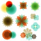 Retro Floral Ornaments Stock Images