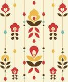 Retro floral Pattern. Illustration Stock Image