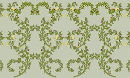 Retro floral pattern royalty free illustration