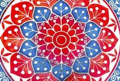 Retro floral pattern. On glazed tiles royalty free stock photos