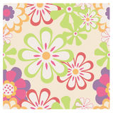 Retro floral pattern stock illustration