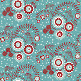 Retro floral pattern Stock Photo