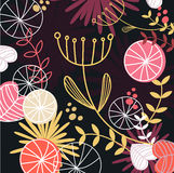 Retro floral pattern background Royalty Free Stock Image