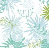 Retro floral pattern background stock illustration
