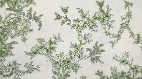 Retro Floral Pattern Fabric Background Royalty Free Stock Photography