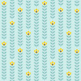 Retro floral pattern, geometric seamless flowers Royalty Free Stock Photography